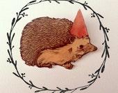 Party Hedgehog Brooch