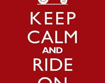 "Farm Decor ""Keep Calm And Ride On"" Tractor Wall Art Print"