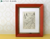 Boston Map ~ 8x10 Vintage Book Page Illustration