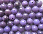 SALE - Purple Plastic Beads 14mm 20 Beads