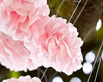 10 mini pom poms, tissue paper pom poms, mini poms, Wedding Decorations,