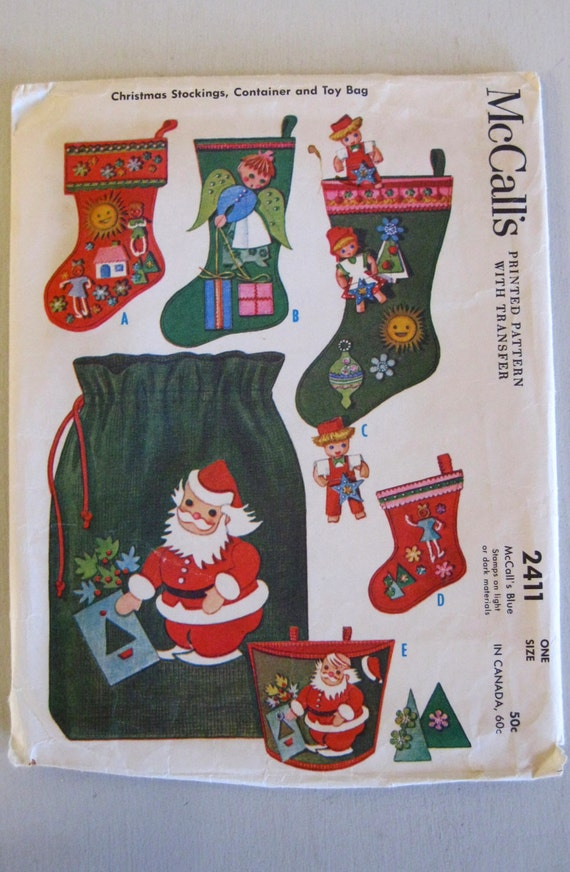 S christmas stocking pattern toy bag by