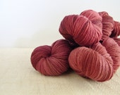 Hand Dyed Yarn RUSSET Superfine, Sustainable Merino Choice of Weights- Fingering/4 Ply, DK, Aran