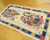 Vintage Towel Kitchen 1950s MEXICAN  theme 15 by 27 inches never used PERFECT