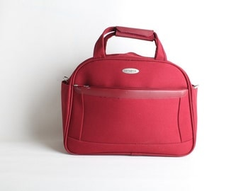 Vintage Maroon Samsonite Messenger Tote Bag