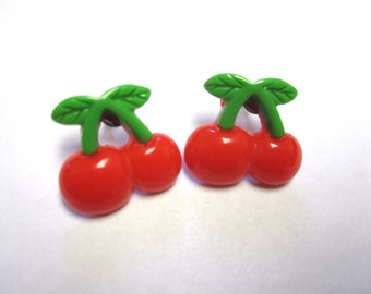 Cherry Post Earrings Cherries Post Stud