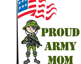 Custom Personalized Car Window Decal Sticker Proud Army Marine  Mom Dad Daughter Son Wife Sister Brother Military