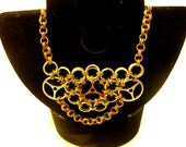 Steampunk Japanese Chainmaille Necklace