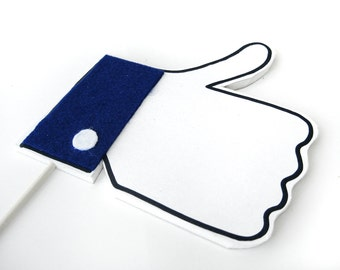 "Facebook ""Like"" Photobooth Sign - Wedding Photo Booth prop on a stick - Set of 1 facebook like"