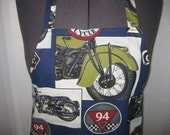 Motor Cycle Apron With All Different Kinds Of Motor Cycle