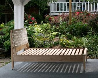 NbRsS01 Solid Hardwood Platform Bed with Web or Solid Headboard - natural color