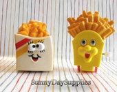 Vintage McDonald's and Wendy's Happy Meal Toys,  French Fries Toys on Wheels - 2 in lot, Happy Meal Toys 1989 and 1991 ~ French Fries