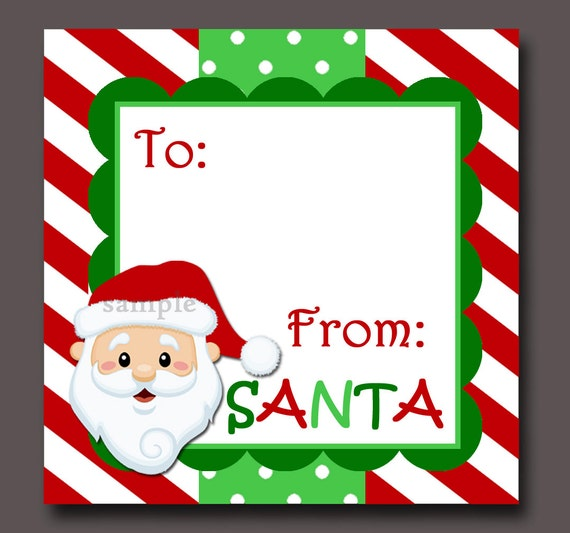 Santa Gift Tags Printable Instant Download by ThatPartyChick