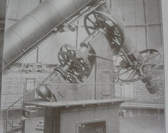 Sepia print -  Telescopes - 1911