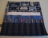 Star Wars party crayon roll crayon holder organizer Star Wars fabric Star Wars birthday