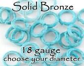 Jump Rings Patina Bronze 18 gauge  Choose the Inside diameter