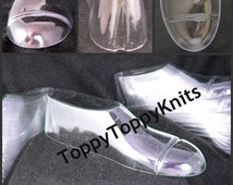 Toddler Shoes Forms Insert Shoes Transparent Display Clear Plastic