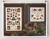 And To All a Good Night Book No. 167 : Prairie Schooler cross stitch patterns Christmas December hand embroidery