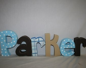 Baby boy name letters 12.00 per letter Wooden letters for nursery Wall letters Custom wood letters Freestanding wood letters Nursery decor