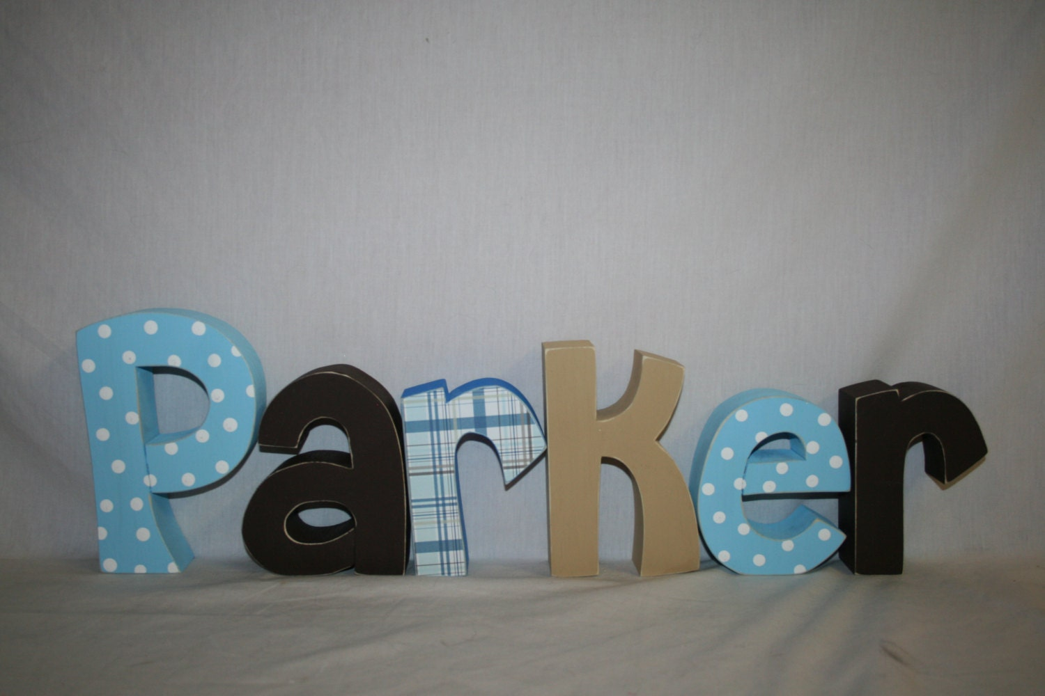 Baby Boy Name Sign 6 Letter Set Wood Letters For Nursery