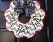 University of Alabama wooden wreath