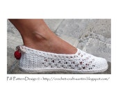 White Lace Slippers/Espadrilles - Crochet Pattern - Instant Download Pdf