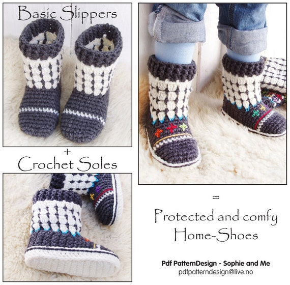 2in1-Pattern-PACK for Fair Isle Sock-Boots for Kids + Crochet ...