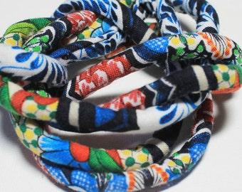 Designer handmade fabric covered necklace cord, jewelry supply, textile jewelry, fabric jewelry, pendant cord mc14