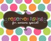 Reserved Listing For LittleMisterSister