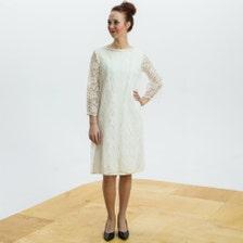 Short Long Sleeved Ivory Shift For Beach Wedding