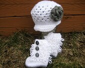 Customizable Baby Crochet Hat and Booties
