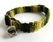 Adjustable Cat Collar Camouflage Pattern