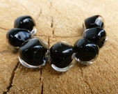 Lampwork Black Nuggets Bead Set OdieBells