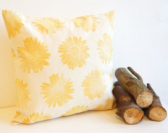 Pillow Yellow Marguerite Organic Cotton