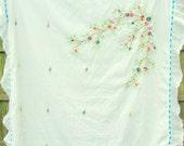 Vintage embroidered baby blanket.