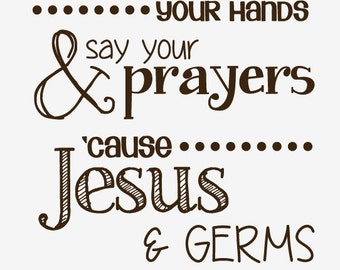 Jesus and Germs decal