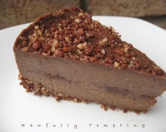 """RECIPE - Chocolate Almond Fudge """"Cheesecake"""" - Gluten Free - Raw Vegan"""