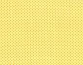 Half Yard Hello Petal Ditty Dots in Delightful Yellow, Aneela Hoey, Moda Fabrics, 100% Cotton Fabric, 18566 13