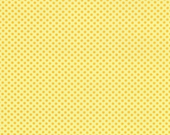 Half Yard Hello Petal Ditty Dots in Delightful Yellow, Aneela Hoey, Moda Fabrics, 100% Cotton Fabric, 18566 13