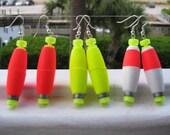Fishing Earrings, Fishing Tackle Earrings, Fishing Buoy Earrings, Fishing Jewelry, Redneck Jewelry, Redneck Earrings, Redneck Pride