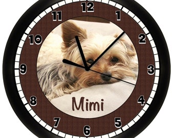 Personalized Yorkshire Terrier Wall Clock