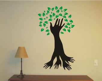 Tree Of Life - Hands Vinyl Decal, Wall Sticker, Wall Tattoo