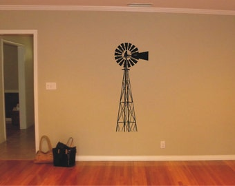 Windmill Vinyl Decal, Wall Sticker, Wall Tattoo