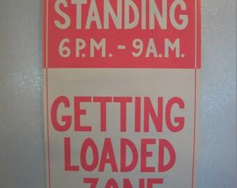 """Vintage """"No Standing"""" 1971  Drug Poster"""
