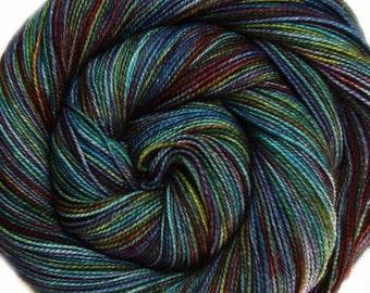 DESTINATIONS sw merino or bfl nylon high twist sock yarn STOCKHOLM hand dyed fingering weight 3.5oz 400 yards