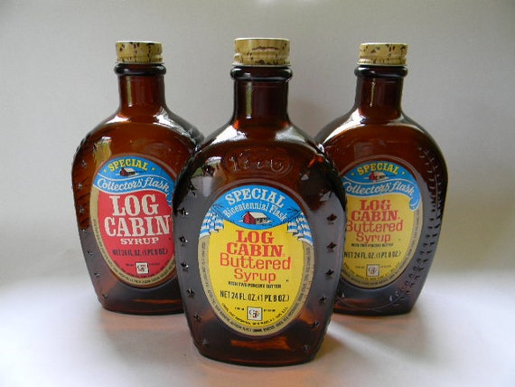 Log cabin syrup bicentennial collector by treasuresfrommaine