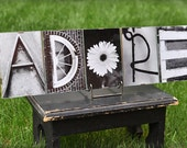 Personalized Name Sign Alphabet Photography Make Any 5 LETTER WORD (framed)
