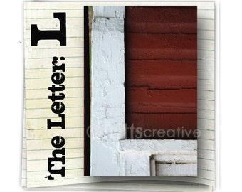 Letter L Alphabet Photography  COLOR 4x6 Photo Letter