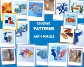 Crochet Patterns - Pick ANY 4