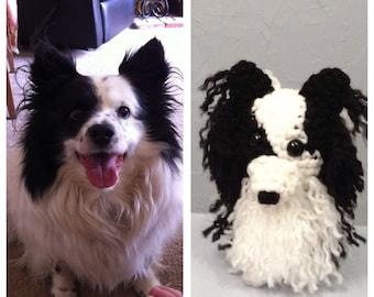 Gift Custom Dog -  Amigurumi  Crocheted Pet Memorial - made to order - memorial gift - collectible crochet dog